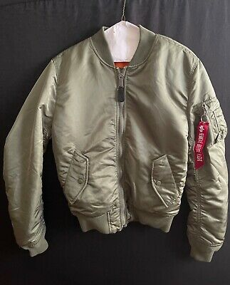 $60 • Buy Alpha Industries MA-1 (Slim-Fit Olive Green) Men's Small