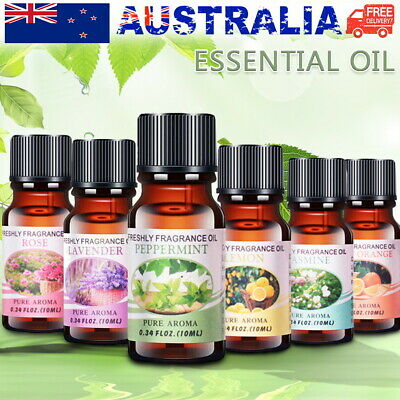 AU13.50 • Buy 6 Bottles Essential Oils Pure & Natural Aromatherapy Diffuser Essential Oil Set