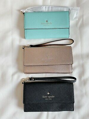 $ CDN61.68 • Buy NWT Kate Spade Iphone Cases Phone Wristlet 12&Pro Leather 8ARU2099 Wallet Pouch