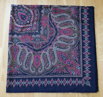 £1 • Buy Art Of The Scarf Tie Rack. Blue & Magenta Paisley Scarf 46  Square