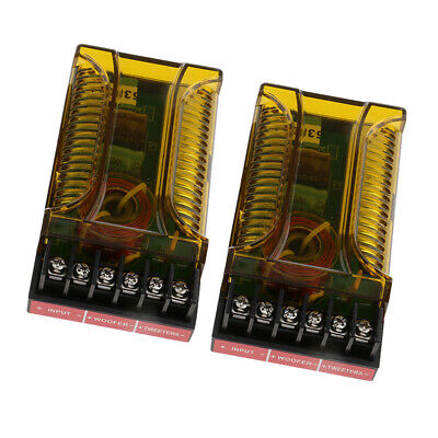AU22.91 • Buy 2Pieces 120W High Low 2 Way Crossover Filter For Audio Frequency Dividers