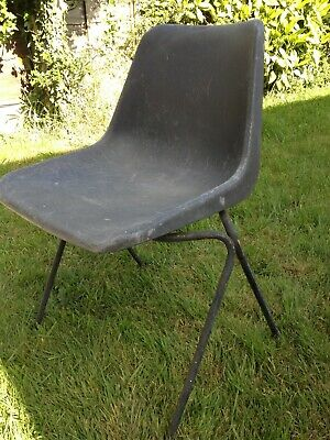 £15 • Buy Retro 1960s Robin Day Hille Design Polyside Grey Plastic Stacking School Chair