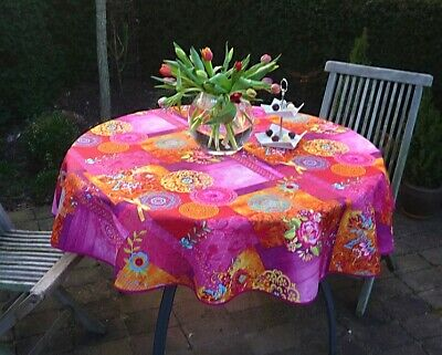 £16.53 • Buy Tablecloth Provence 160 CM Round Pink Flowers France Easy-Care Non-Iron