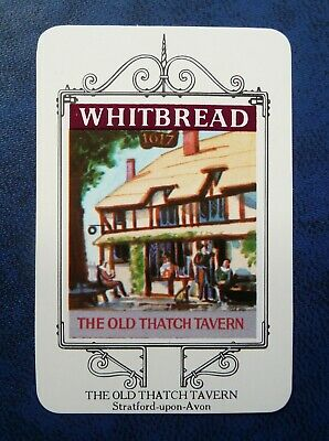£1 • Buy Whitbread Inn Signs  STRATFORD -upon -AVON SERIES  No 8  THE OLD THATCH TAVERN