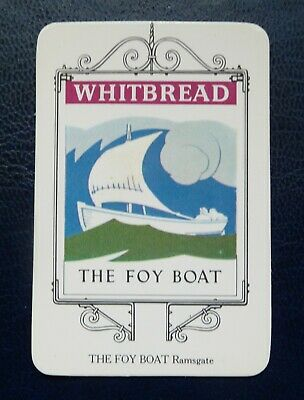 £1.50 • Buy Whitbread Inn Signs  THE KENT SERIES No 14  THE FOY BOAT