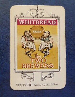 £1.50 • Buy Whitbread Inn Signs  THE WEST PENNINES SERIES No 21  THE TWO BREWERS HOTEL