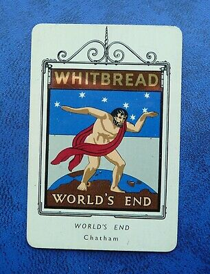 £1 • Buy Whitbread Inn Signs Second Series Aluminium  No 12  THE WORLDS END