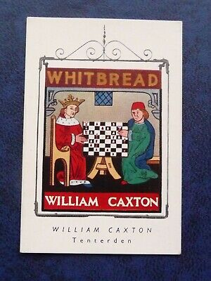 £2.50 • Buy Whitbread Inn Signs 1951 Special Series Of 4    No 1  THE WILLIAM CAXTON