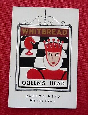 £2.50 • Buy Whitbread Inn Signs 1951 Special Series Of 4    No 4  THE QUEENS HEAD