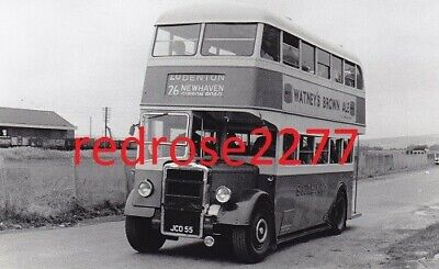 £0.99 • Buy Bus Photo Southdown Leyland PD2 JCD 55 Route 26 Newhaven