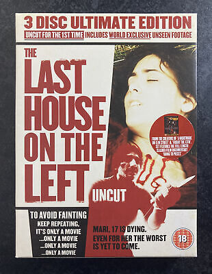 £9.95 • Buy Last House On The Left - 3 Disc Ultimate Edition (Uncut) 1972 70s80s Horror 💥