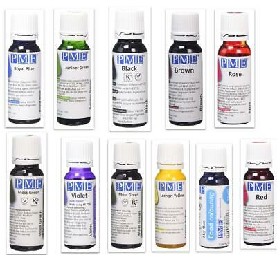 £3.99 • Buy PME Natural Edible Liquid Food Colouring For Icing Sugar-paste Cake Decoration!!