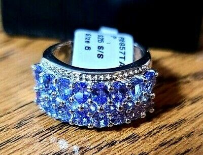 £90.54 • Buy 925 Sterling Silver Tanzanite Ring Size 6