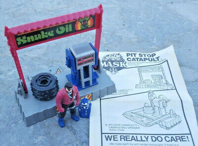 $44.99 • Buy V.E.N.O.M. Pit Stop Catapult Sly Rax Complete W/ Instructions 3 Tires MASK 1987