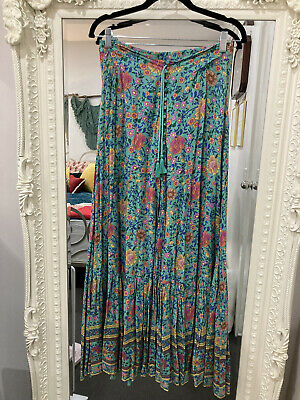 AU400 • Buy Spell Gypsy Folktown Skirt Turquoise, Size Medium. Great Condition- See Photos