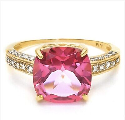 AU400 • Buy 10k Yellow Gold Ring  Set With Natural Diamonds. Valued $2300.00