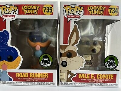 £135.64 • Buy Funko Pop! Animation Looney Tunes - Road Runner #735 And Wile E Coyote #734