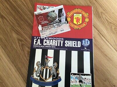 £6 • Buy 1996 MANCHESTER UNITED V NEWCASTLE UNITED CHARITY SHIELD TICKET And PROGRAMME