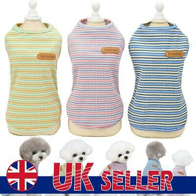 £6.71 • Buy Small Dog Vest T-Shirt Pet Puppy Cat Clothes Coat Summer Outfit Costume Apparel