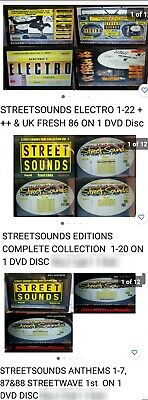 £9.99 • Buy Streetsounds 3 Dvd Disc Set Electro 1-22 + Uk Fresh 86, Editions 1-22, Anthems