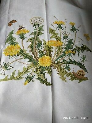 £19.50 • Buy Finished Completed Cross Stitch Dandelion Never Used Approx.65 Cm  X 65 Cm