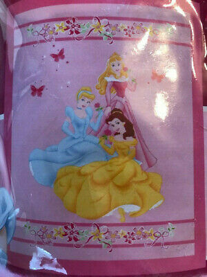 £3.79 • Buy New Large Disney Princess Girls Blanket. Pink With X 3 Princesses And Flowers