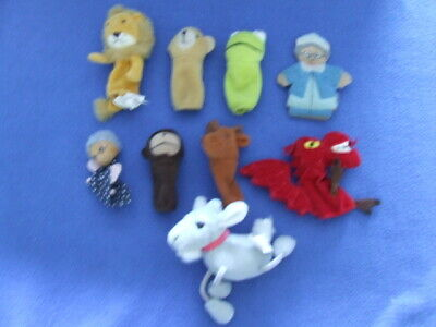 £4 • Buy Variety Of Fairy Tale Type Finger Bob Puppets! Inc Super Quality Red Dragon!