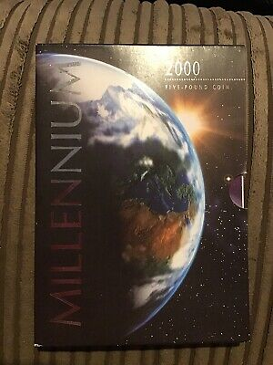 £16 • Buy MILLENIUM 2000 Five Pound Coin Royal Mint Uncirculated 2000 £5 Coin
