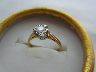 £150 • Buy Vintage 18ct Gold Diamond Engagement Ring. Size M. With Valuation Cert. For 1997
