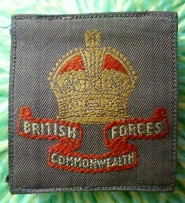 £25 • Buy WW2 British Commonwealth Forces Formation Sign Cloth Badge ANTIQUE Original