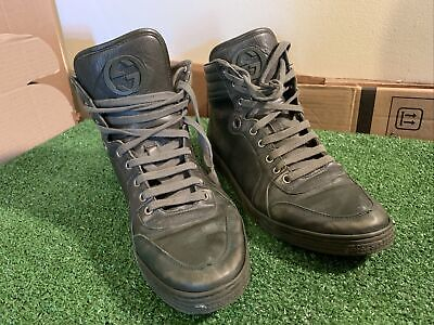 £25.99 • Buy Gucci Patent Leather Hi Tops Boots Trainers Sneakers Ladies UK 9.5