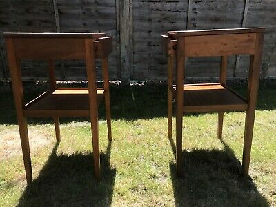 £140 • Buy Retro Pair Of Teak Bedside Tables Cabinets Mid Century Vintage Remploy