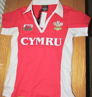 £4.99 • Buy New With Tag Womens Size 6-8 Rugby Wales Shirt Women's Short Sleeved Top T-shirt