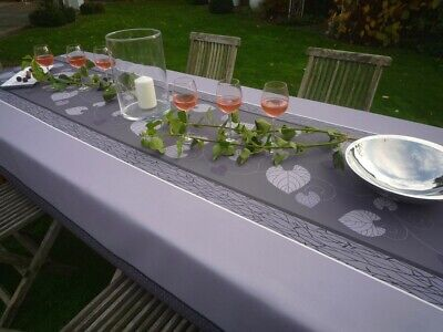 £30.20 • Buy Tablecloth Provence 150x350 CM Grey Vines From France Non-Iron Easy-Care