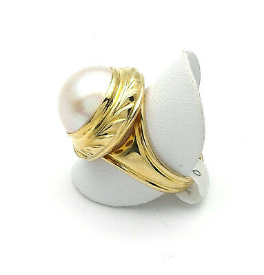 $1177.90 • Buy Yellow Gold Ring 18 CT And Pearl Mabe 'From GIOIELLERIA AMADIO