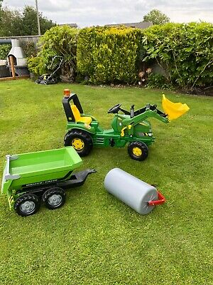 £13 • Buy Rolly Toys John Deere Children's Tractor - Green With Accessories