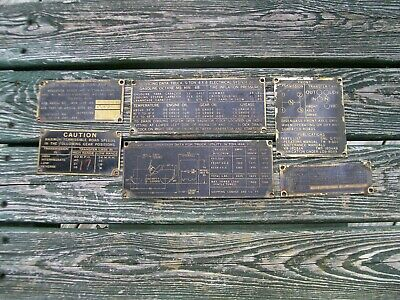 $99 • Buy Willys Overland Jeep M38  G740 4X4 Original Data Plates Serial Number 64319 4/52