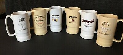 £62 • Buy Group Of 6 Small Whisky Advertising Jugs