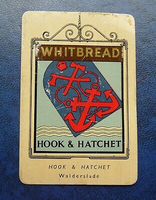 £1 • Buy Whitbread Inn Signs Second Series Aluminium  No 8 THE  HOOK AND HATCHET