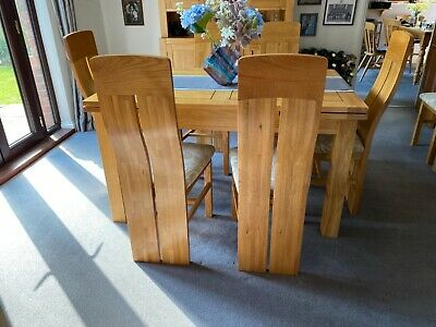 £160 • Buy Solid Oak Dining Room Chairs .Oak Furniture Land.Excellent Condition .