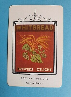 £1 • Buy Whitbread Inn Signs The Brewers Delight Canterbury No 5 Third Series Card