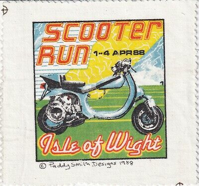£7 • Buy Isle Of Wight April 1988 Scooter Rally Patch - Paddy Smith/Vespa/Lambretta