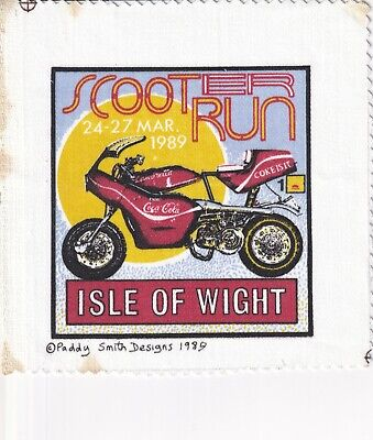 £7 • Buy Isle Of Wight March 1989 Scooter Rally Patch - Paddy Smith/Vespa/Lambretta