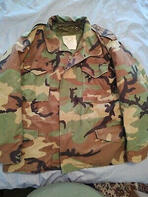 $35 • Buy M65 Field Jacket Large Short With Liner COLD WEATHER Camouflage Military