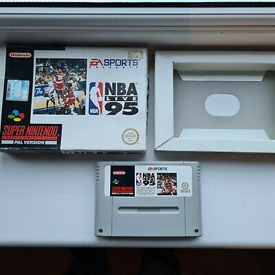 £10 • Buy NBA LIVE 95 Super Nintendo SNES Pal Game Cartridge Boxed Tested Workin Condition