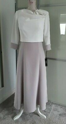 £219 • Buy Veni Infantino For Ronald Joyce Taupe/ivory Mother Of The Bride Matching Outfit