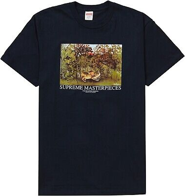 $ CDN89.99 • Buy Supreme Masterpieces Tee Large Navy SS20 T-shirt Authentic New