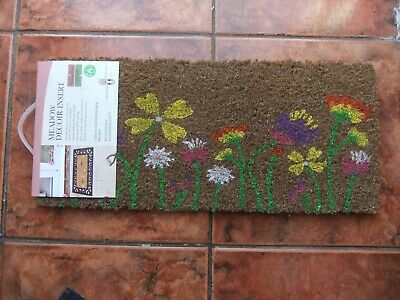 £8 • Buy Durable Natural Coir Doormat With Meadow Decor.Can Be Used With Rubber Frame.