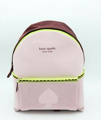 $ CDN186.31 • Buy NWT Kate Spade New York Pink Sport Knit City Pack Large Backpack Bag New