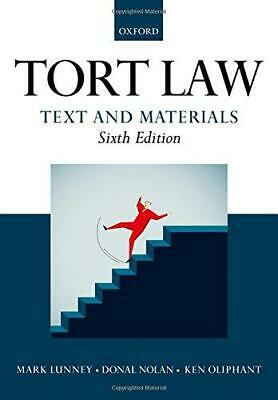 £10.13 • Buy Tort Law: Text And Materials, Oliphant, Ken,Nolan, Donal,Lunney, Mark, Good Cond
